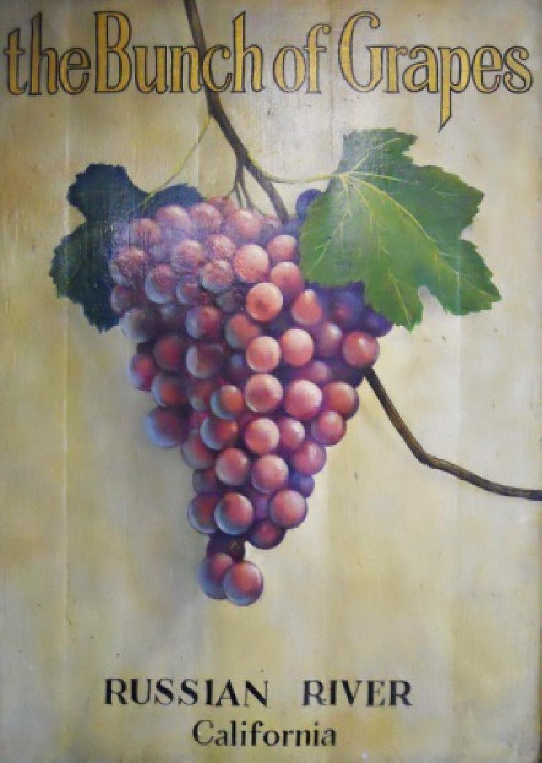 "Painted Trade Sign, ""Bunch of Grapes"" - 2"