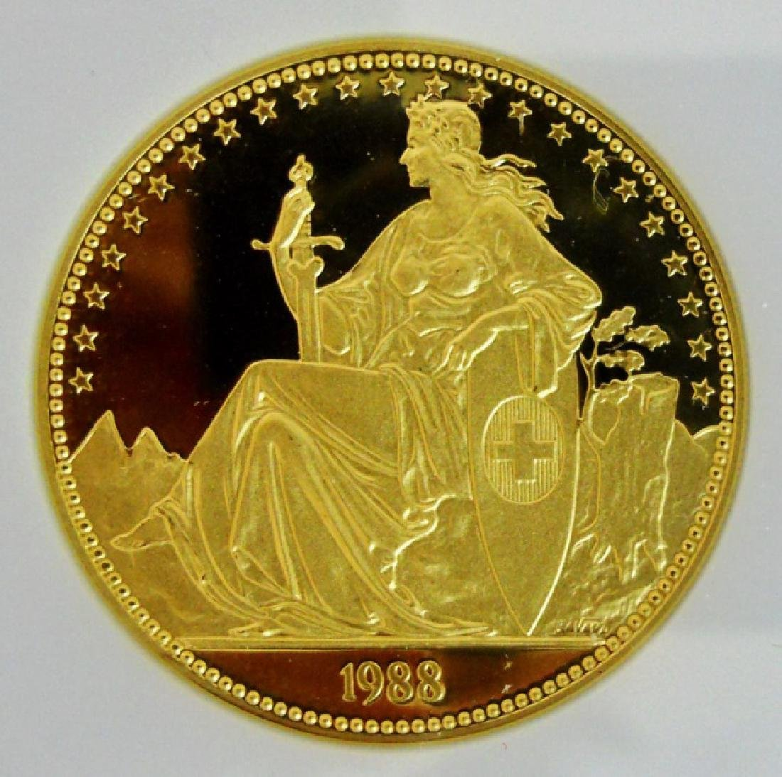 Swiss 1988 Lion of Luzanne Gold Proof Set (4pc) - 2