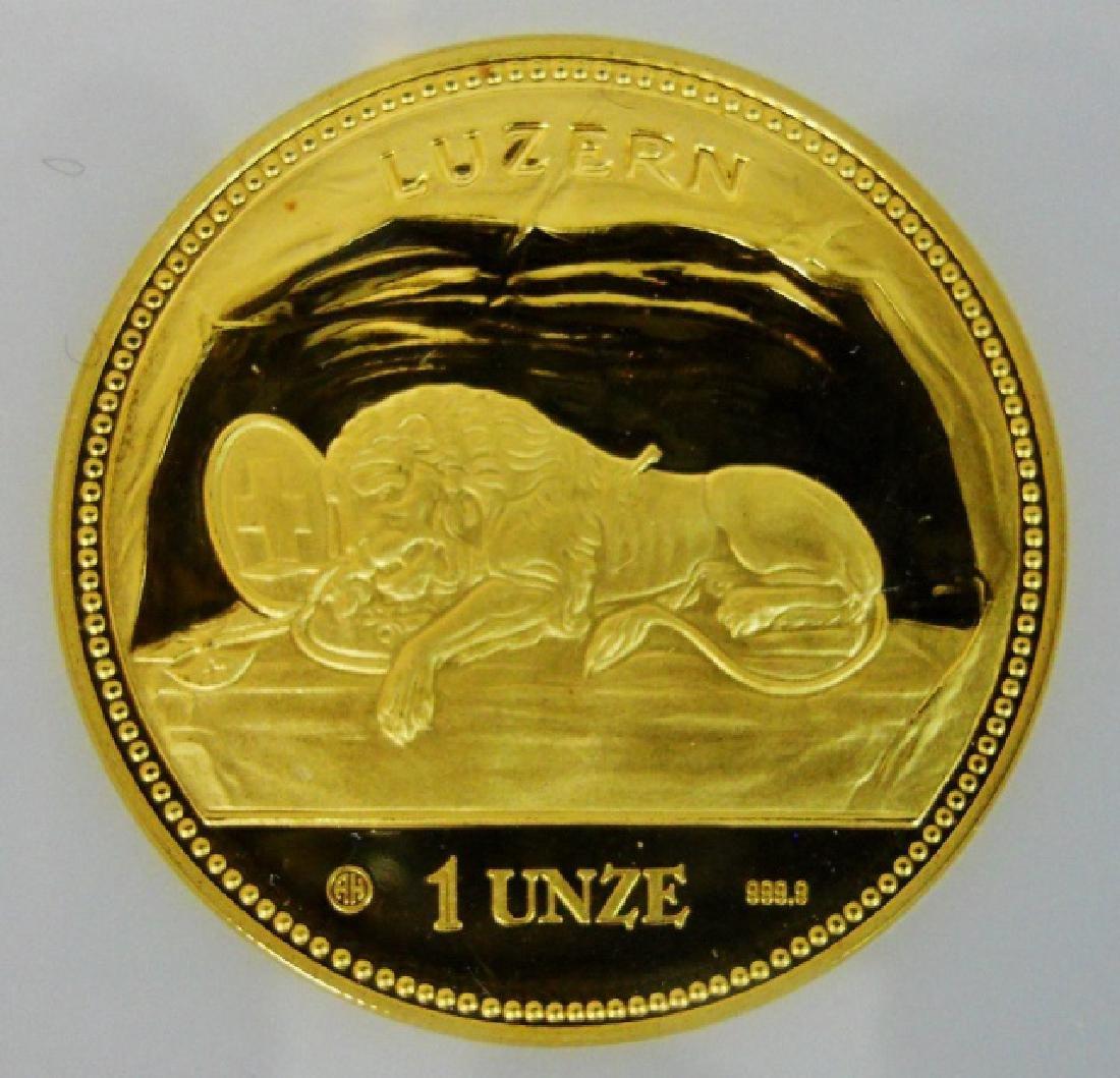 Swiss 1988 Lion of Luzanne Gold Proof Set (4pc) - 3