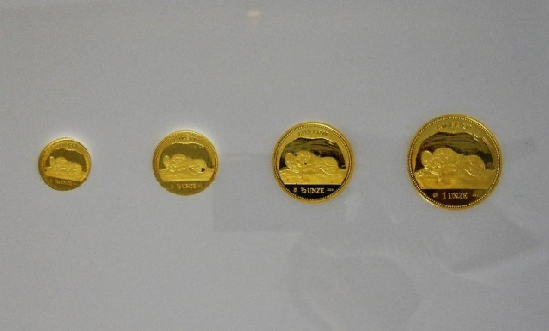 Swiss 1988 Lion of Luzanne Gold Proof Set (4pc) - 5