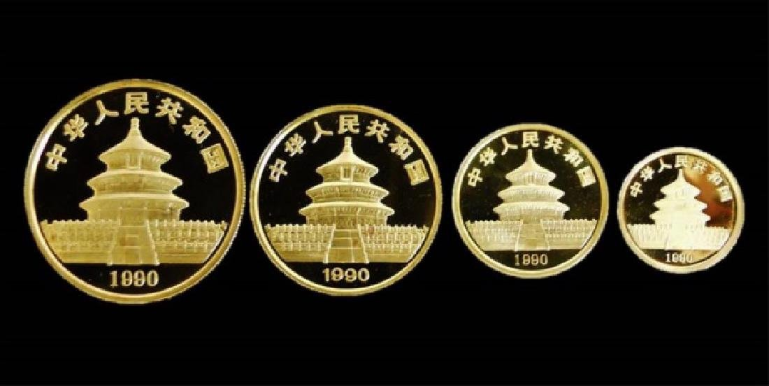 1990 Chinese Gold Panda Mint Set, (4pc)