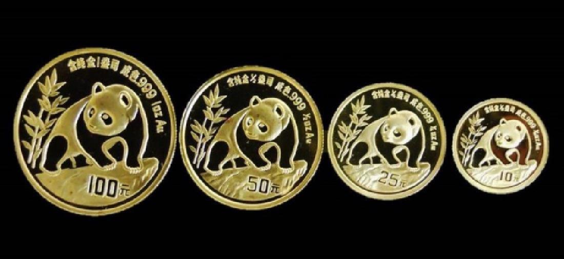 1990 Chinese Gold Panda Mint Set, (4pc) - 2