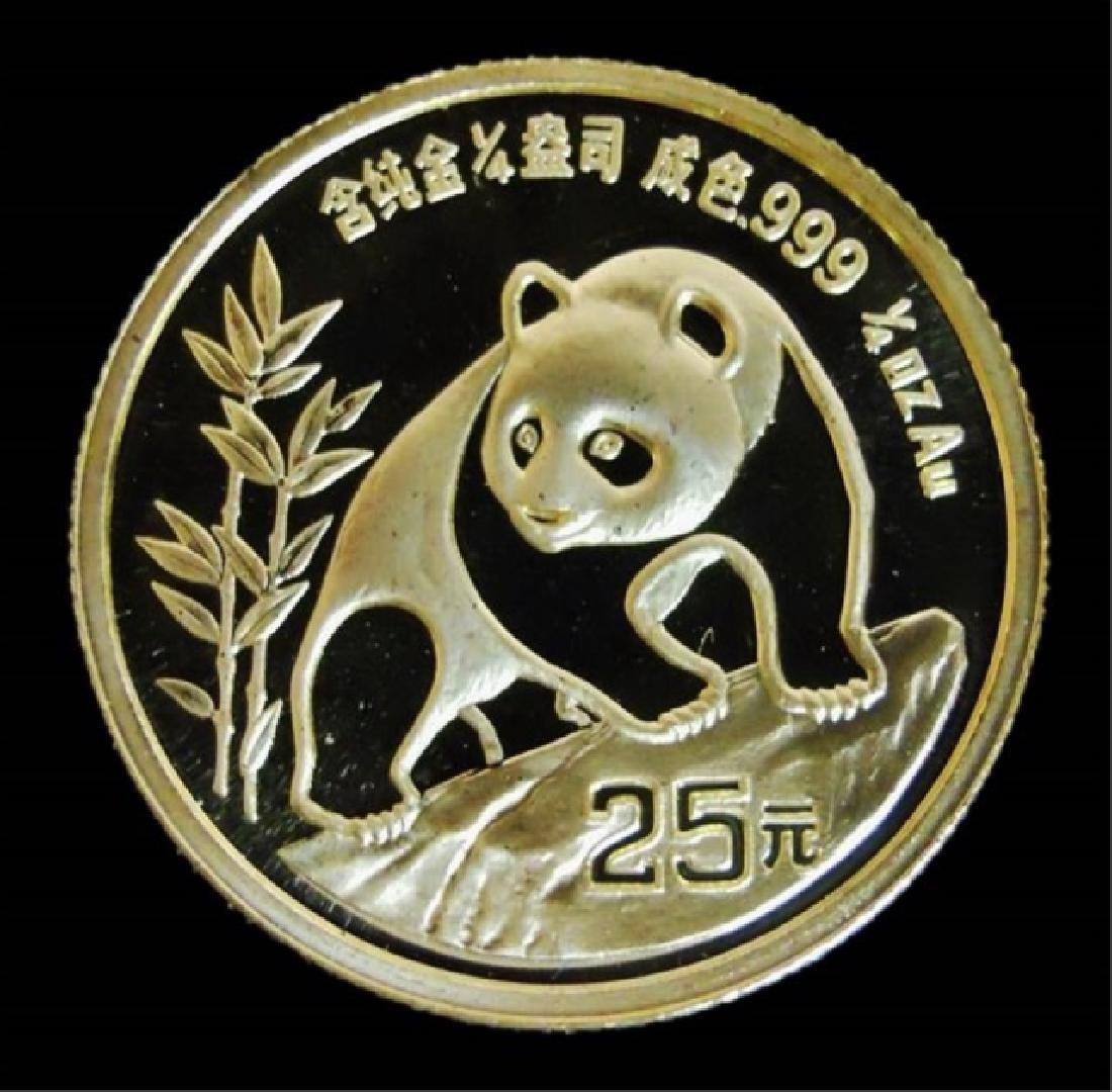 1990 Chinese Gold Panda Mint Set, (4pc) - 5