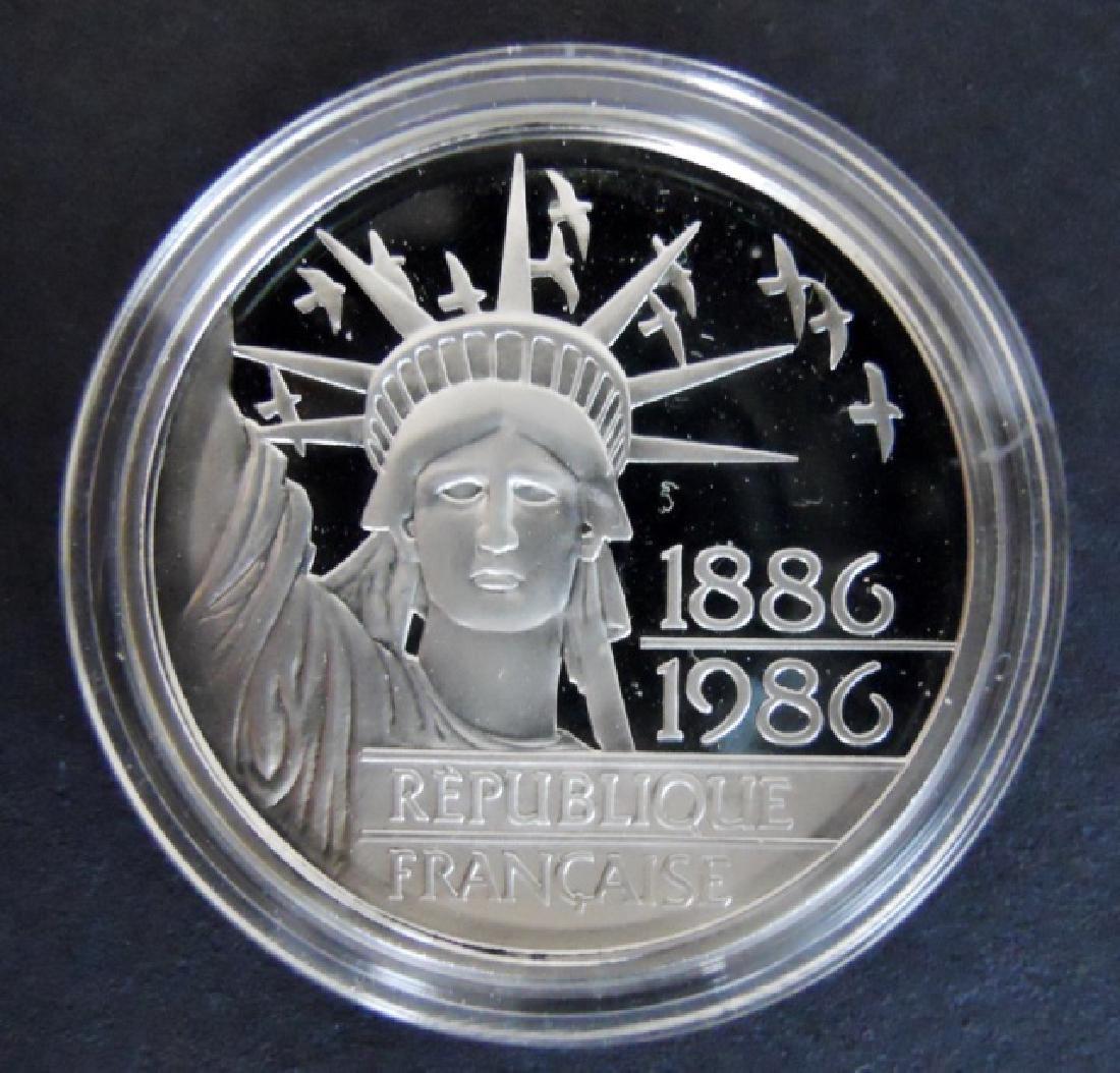 1986 100F Proof Platinum Coin, Monnaie De Paris