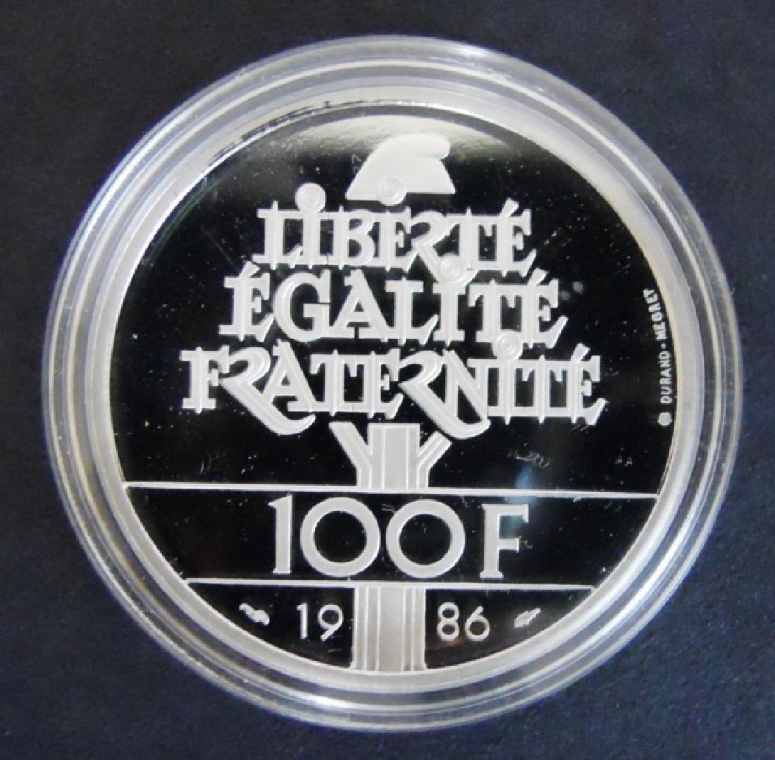 1986 100F Proof Platinum Coin, Monnaie De Paris - 2