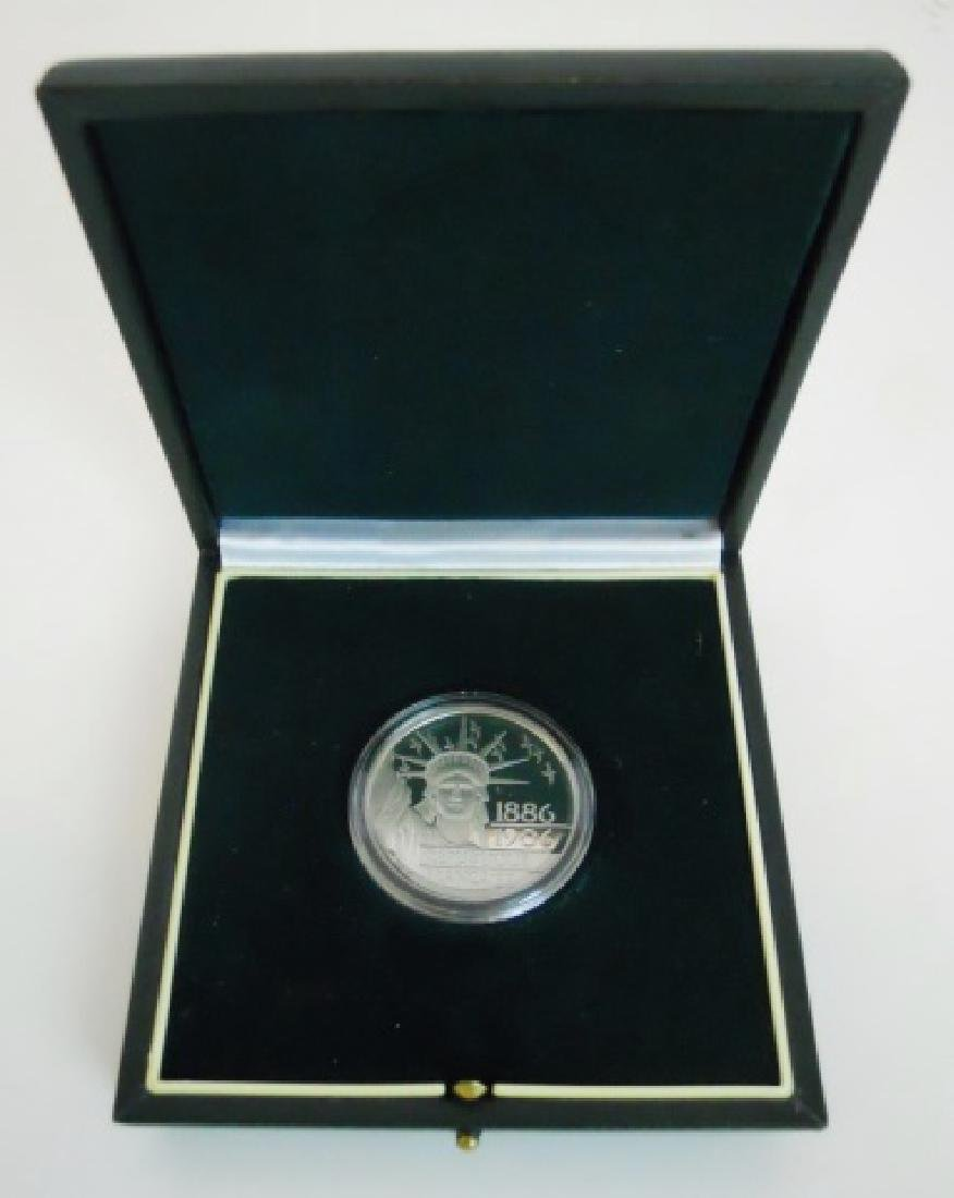 1986 100F Proof Platinum Coin, Monnaie De Paris - 3