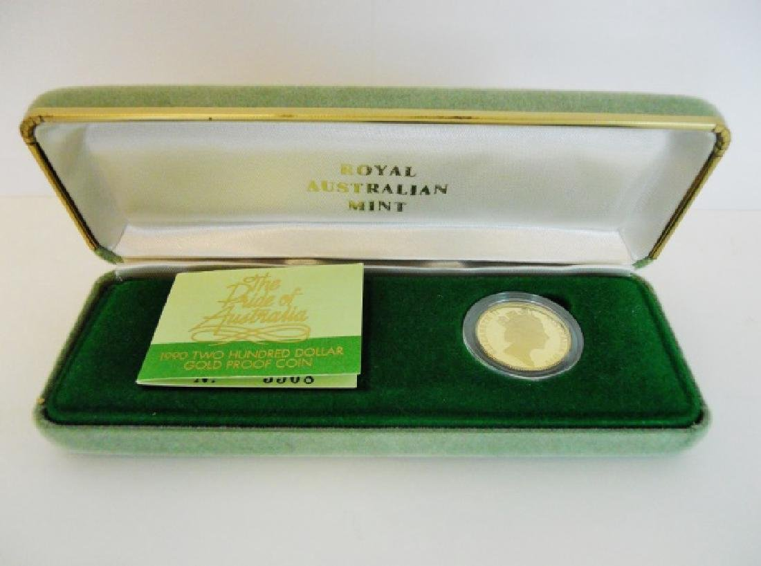1990 Australia $200 Proof Gold Platypus Coin - 3