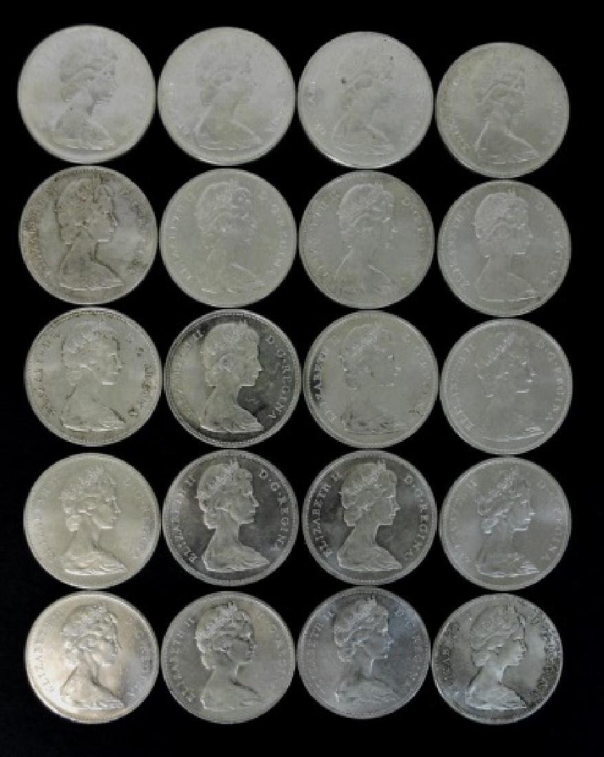 Roll of 1965 Canada Silver Dollars, BU, (20pc)