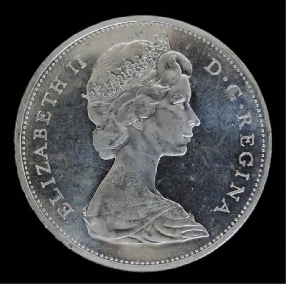 Roll of 1965 Canada Silver Dollars, BU, (20pc) - 3