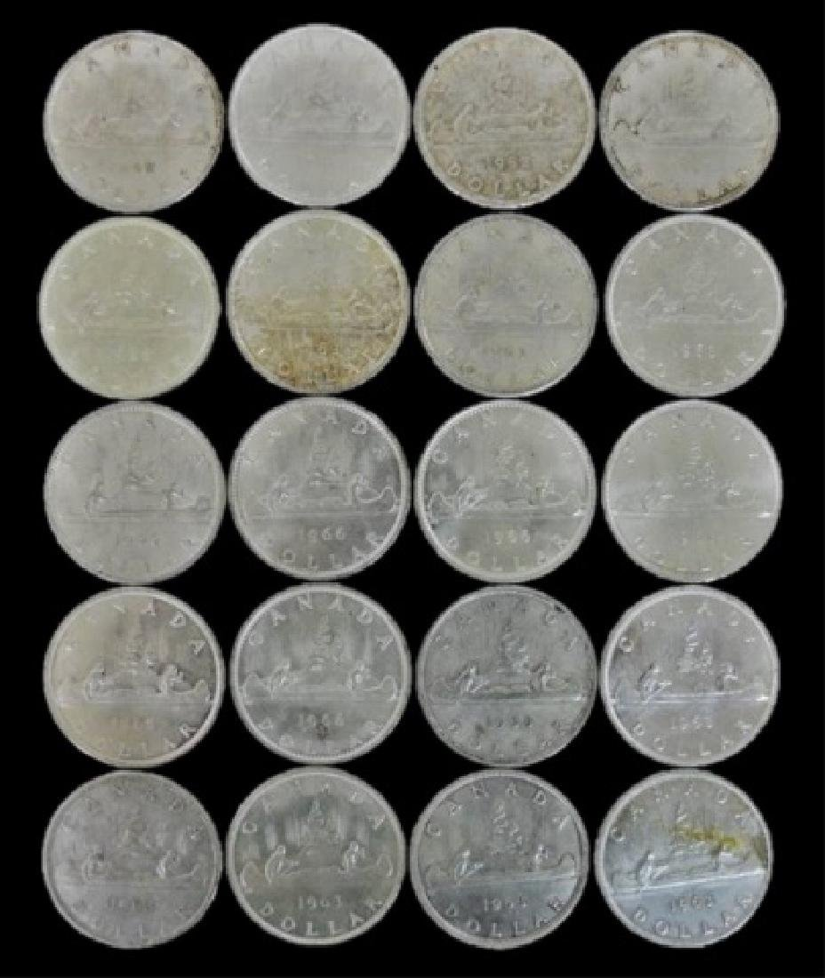 Roll of Mixed Date Canada Silver Dollars, (20pc) - 2