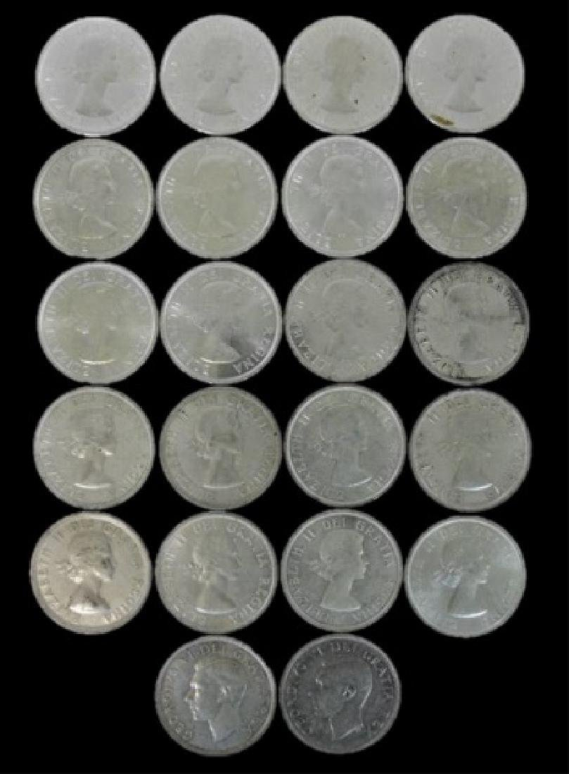 Roll of Mixed Date Canada Silver Dollars, (22pc)