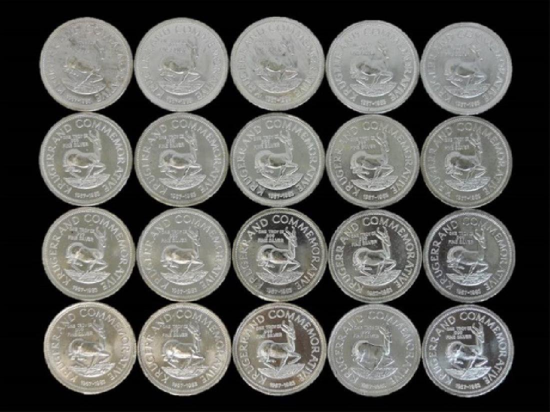 Roll S. Africa Krugerrand Silver Coins, BU (20pc) - 2
