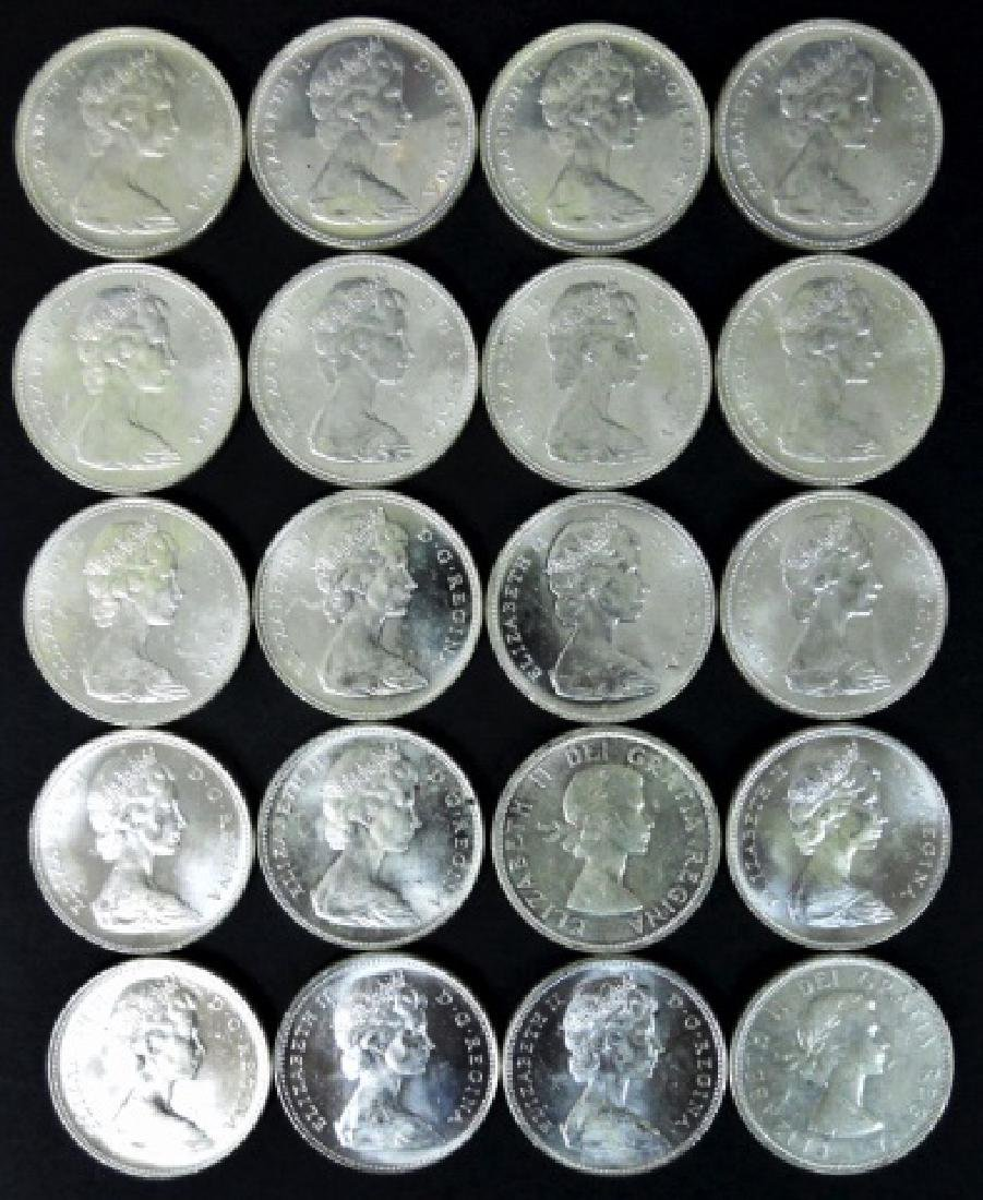 Roll of Mixed Date Canada Silver Dollars, (20pc)