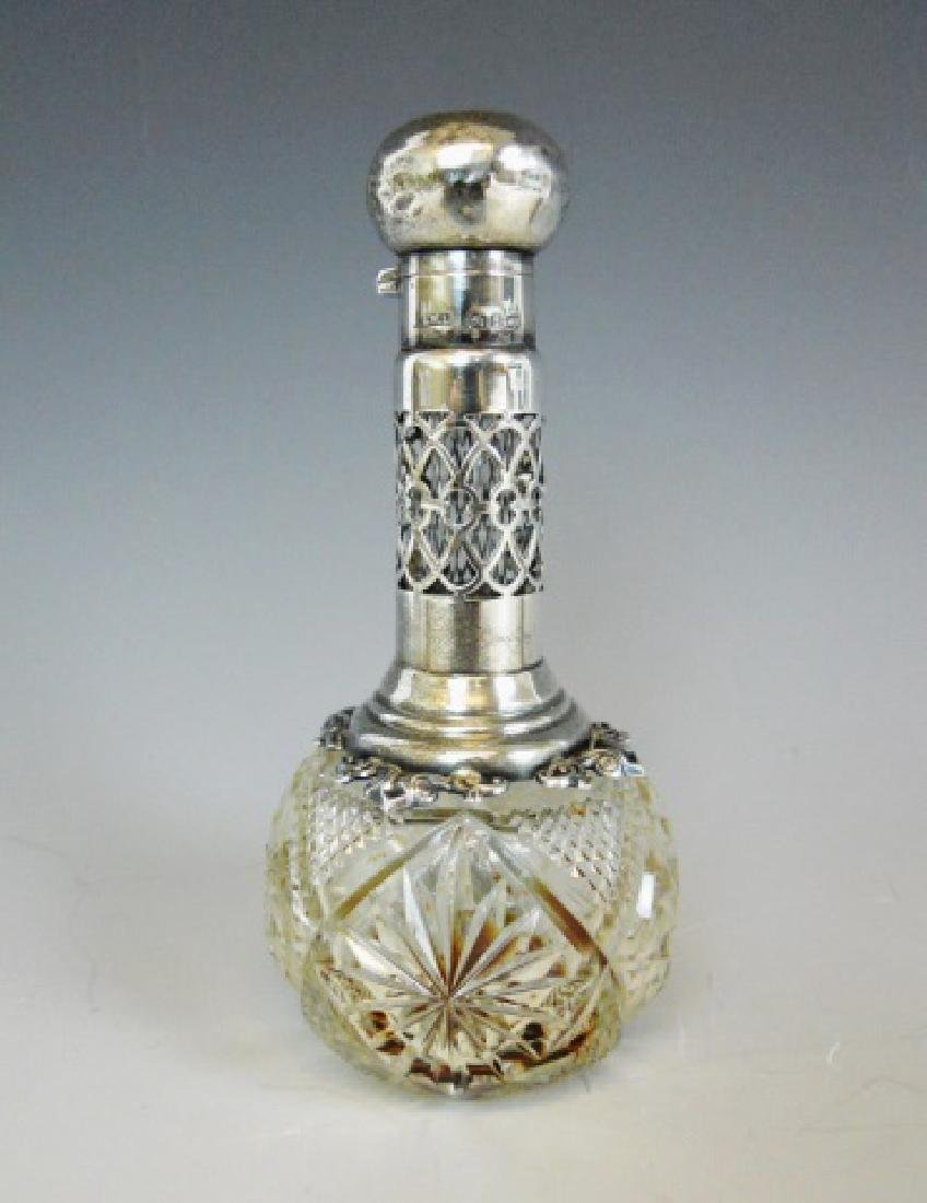 English Glass, Silver Perfume Bottles, (4pc) - 2