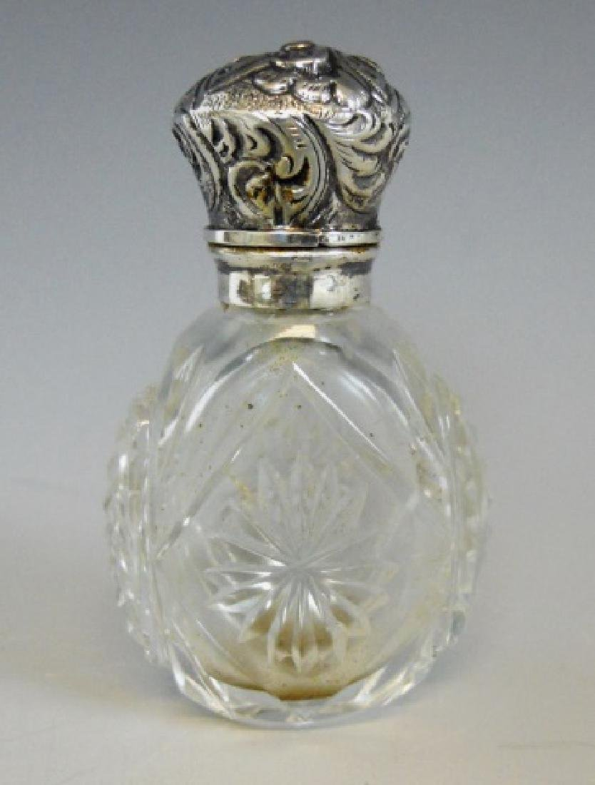 English Glass, Silver Perfume Bottles, (4pc) - 5