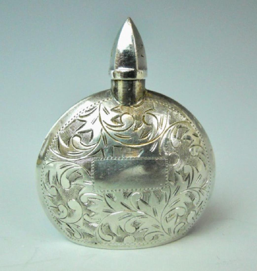 Antique Silver, Gold Cased Perfume Bottles (2pc) - 5