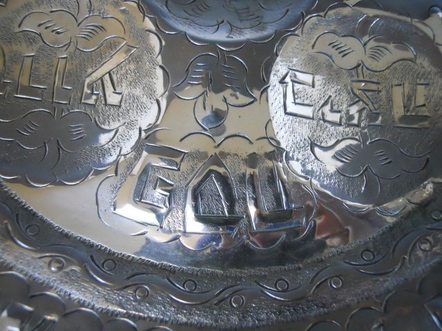 Sterling Silver Repousse Passover Plate - 3