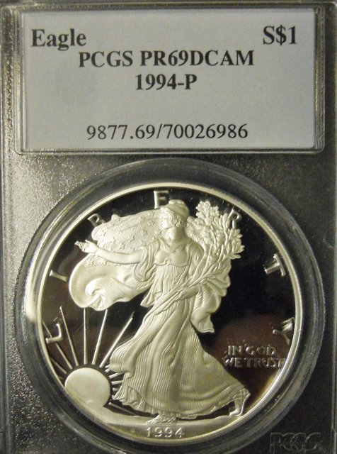 US Silver Eagles PCGS PF69 DCAM, 1986-2005, (20pc) - 4