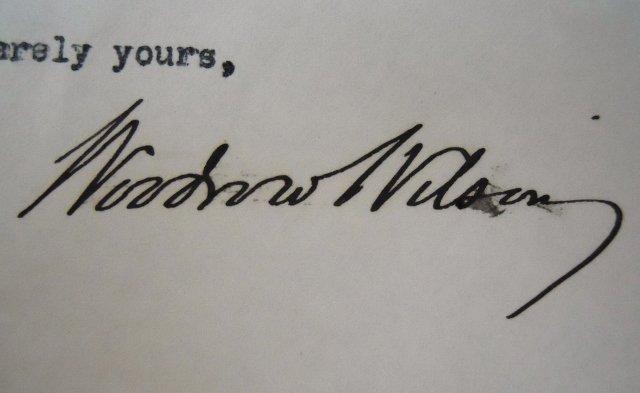 Woodrow Wilson Autographed Correspondence, (7pc) - 5