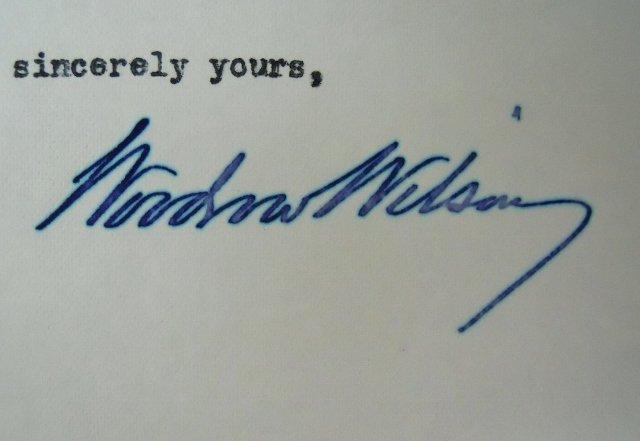 Woodrow Wilson Autographed Correspondence, (7pc) - 6