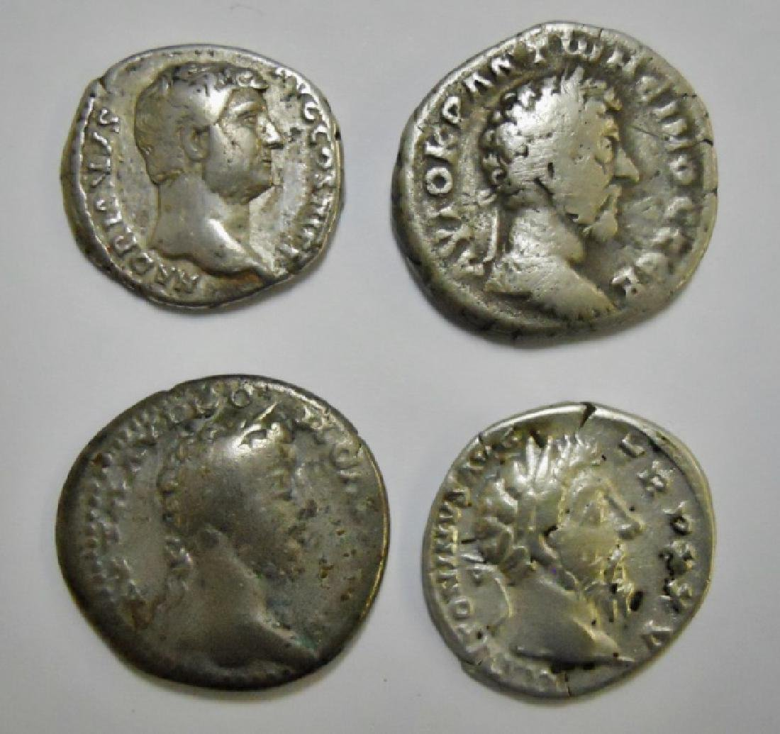 Collection Roman Silver Denarius 117-192 AD, (4pc)