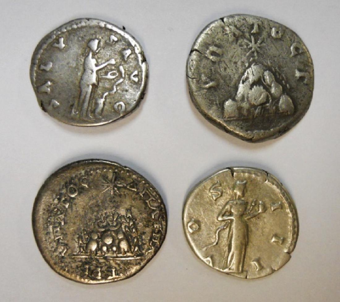 Collection Roman Silver Denarius 117-192 AD, (4pc) - 2