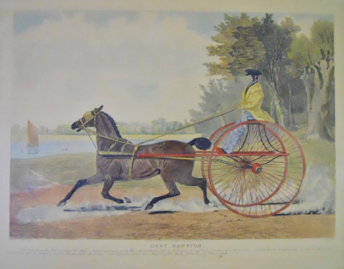 19th C. Engraving, Lady Hampton, John Herring