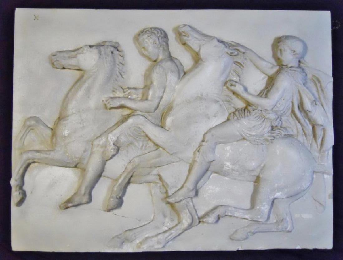 19th C.  Plaster Neoclassical Wall Plaque