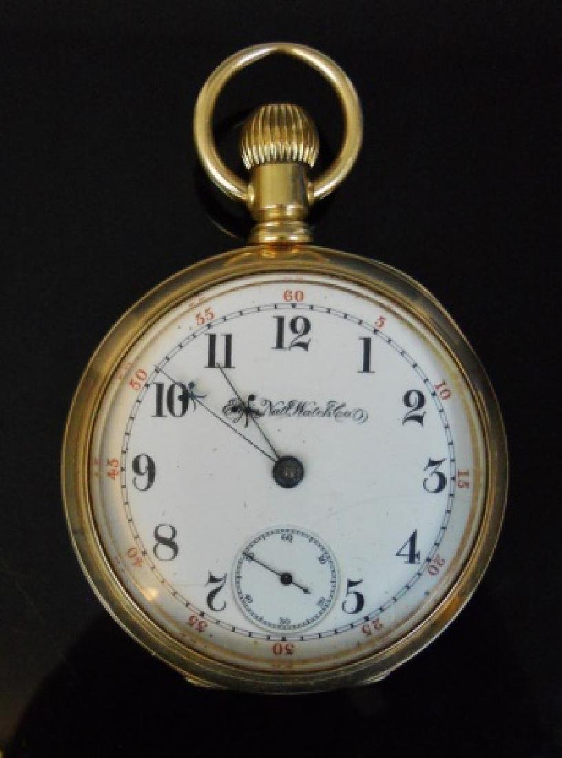 14K Gold Pocket Watch, Elgin Illinois, C. 1886