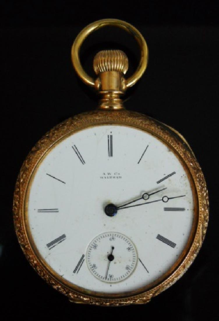 14K Gold Pocket Watch, Waltham, c. 1886