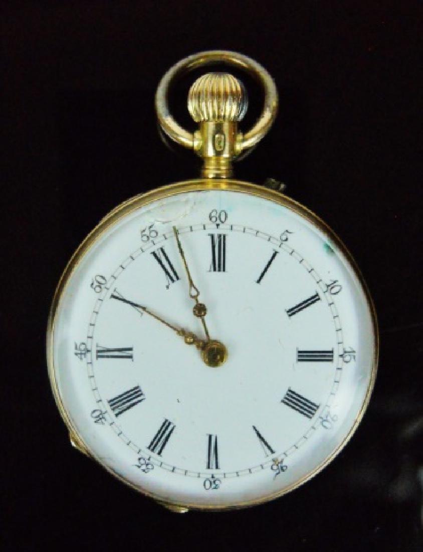 14K Gold Pocket Watch, Remontoir, Geneve