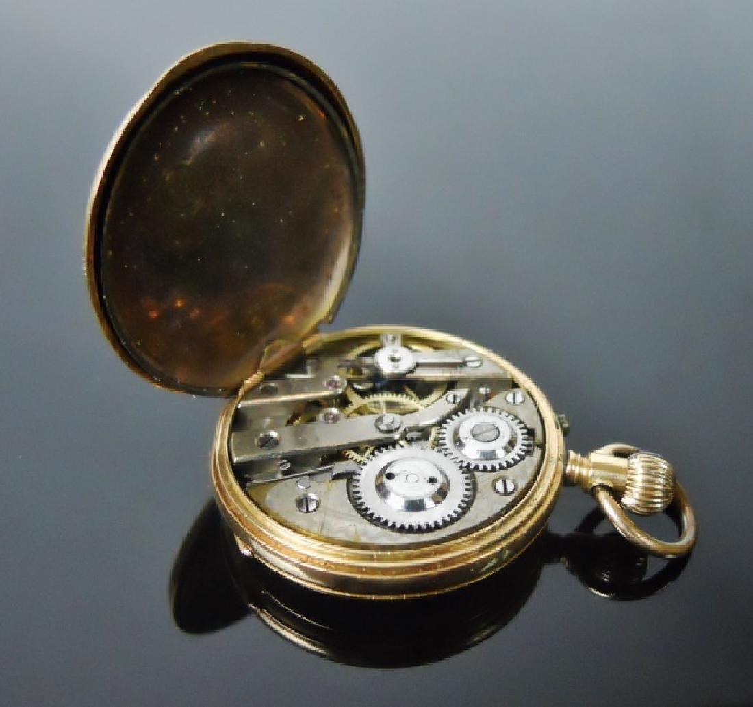 14K Gold Pocket Watch, Remontoir, Geneve - 2