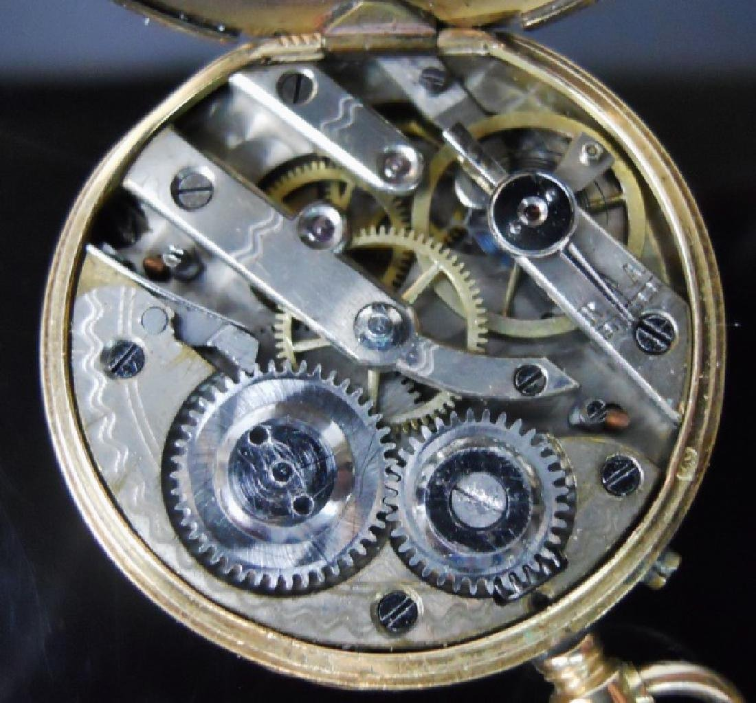 14K Gold Pocket Watch, Remontoir, Geneve - 3
