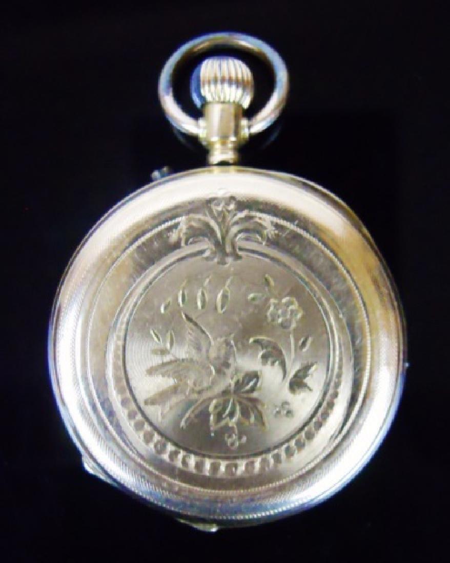 14K Gold Pocket Watch, Remontoir, Geneve - 5