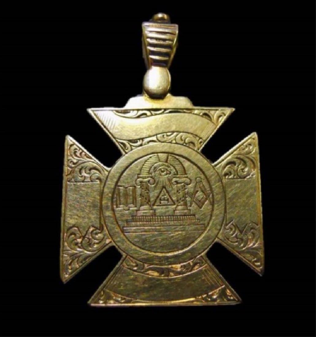 14K Gold Masonic Watch Fob, May 11th, 1863 - 2