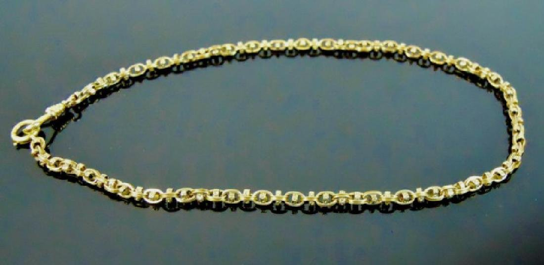 Antique 14K Yellow Gold Watch Chain