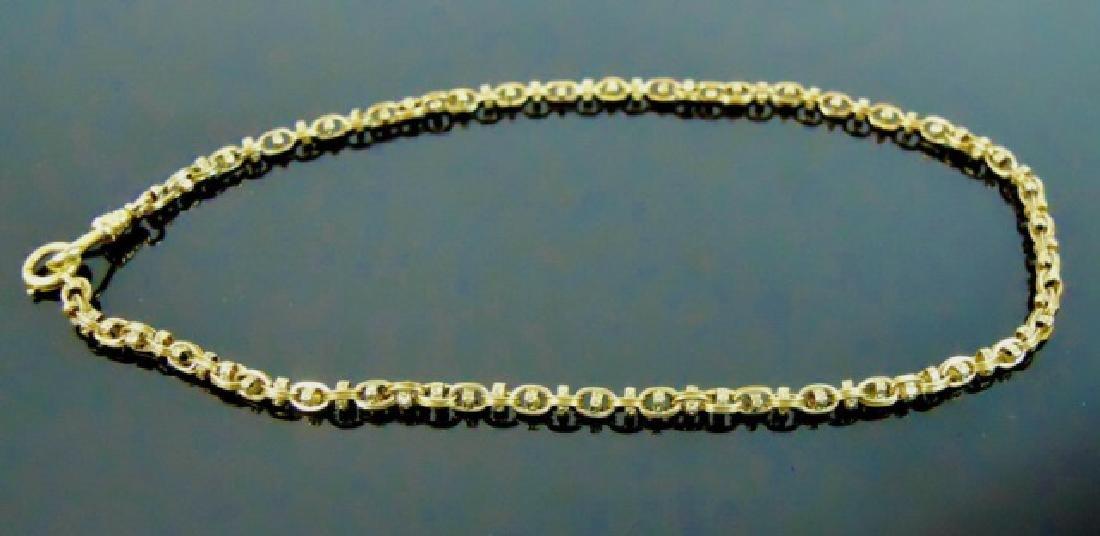 Antique 14K Yellow Gold Watch Chain