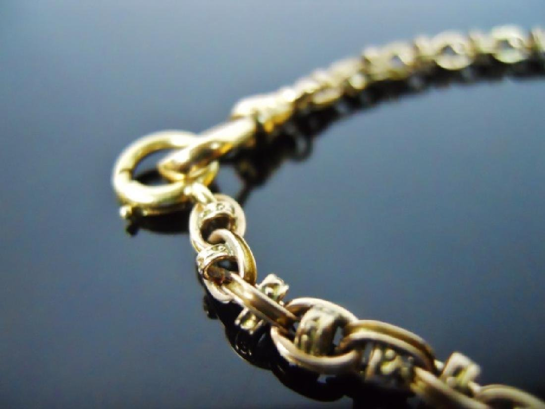 Antique 14K Yellow Gold Watch Chain - 2