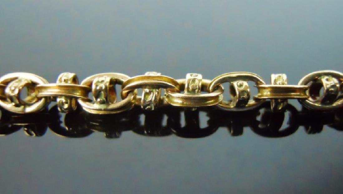Antique 14K Yellow Gold Watch Chain - 3