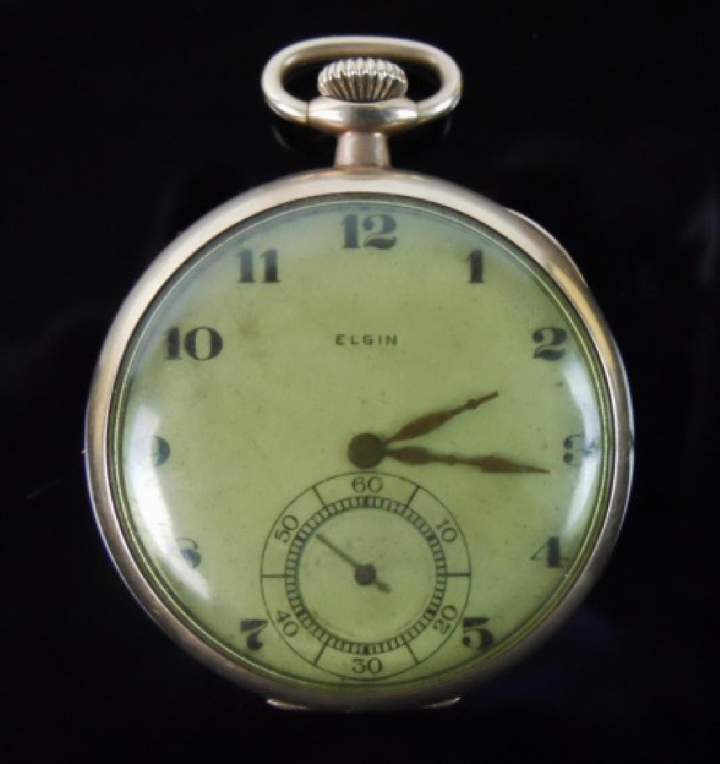 Antique 14K Gold 17j Pocket Watch, ELGIN