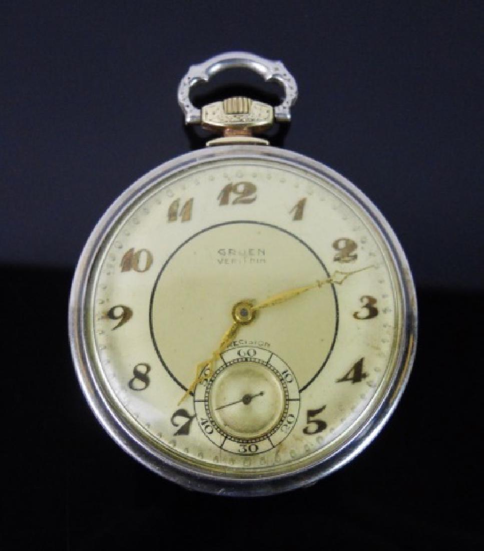 Antique 14K Gold Pocket Watch, GRUEN