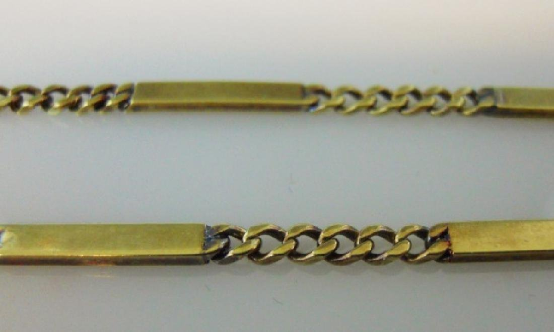 Antique 14K Gold  Watch Chain with Masonic Fob - 3
