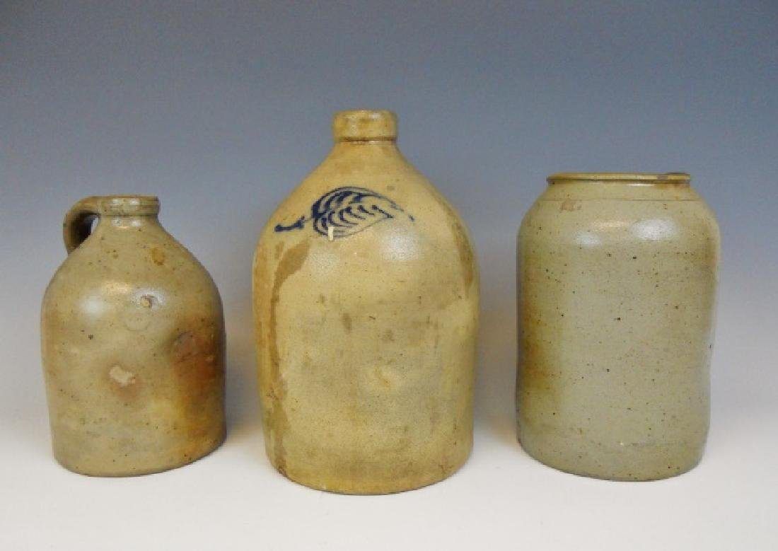19th C. Stoneware Vessels, (3pc)