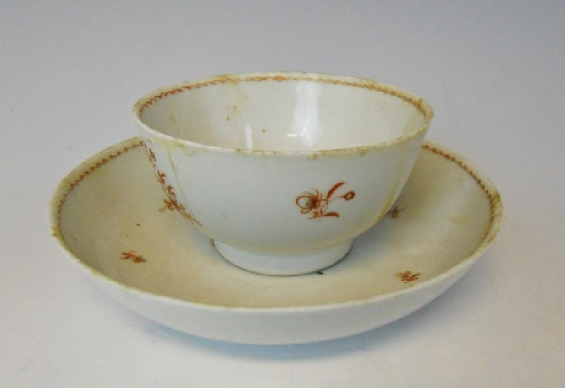 18th C. Porcelain Cup, Bowl, John Adams Provenance