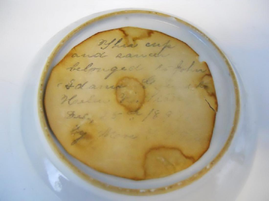 18th C. Porcelain Cup, Bowl, John Adams Provenance - 2