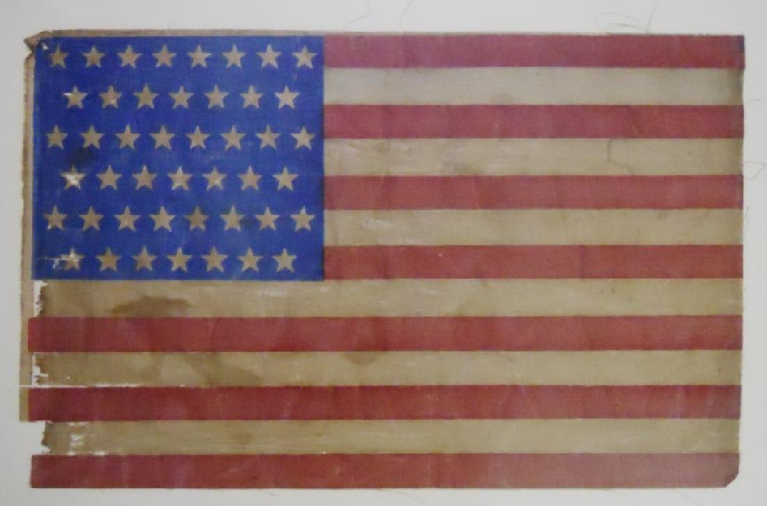 U.S. Forty-five Star Flag, Screen Printed Fabric