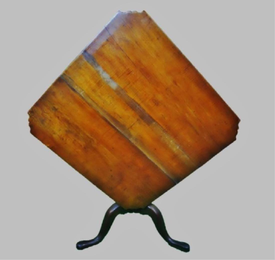 18th C. New England Tiger Maple Tilt Top Table