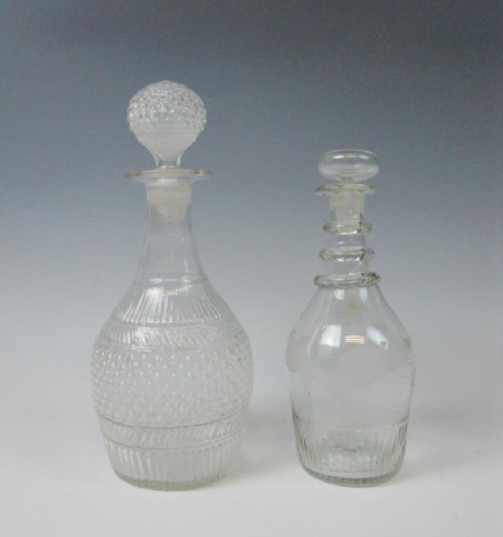 19th C. Blown Glass Decanters, (2pc)