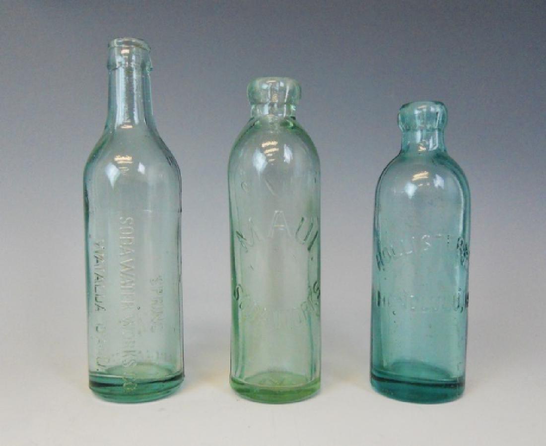 Collection, Antique Hawaiian Soda Bottles, (3pc)