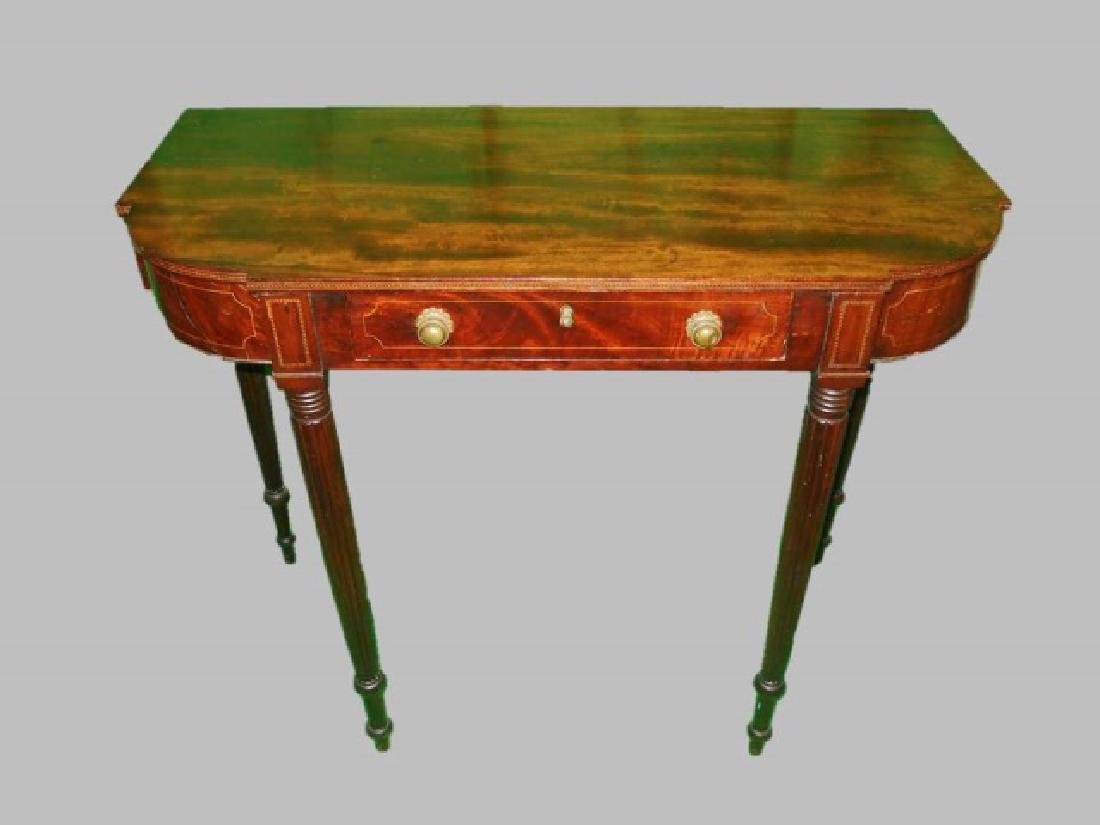 Period Federal Inlaid Mahogany Side Table